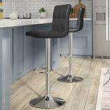 Toler Adjustable Height Swivel Bar Stool (Set of 2) by Orren Ellis