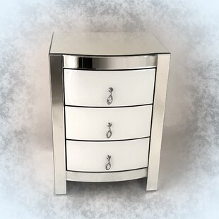 Prince 3 Drawer Nightstand