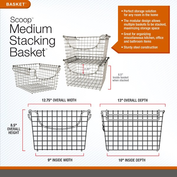 Highlights. Scoop Small Stacking Basket