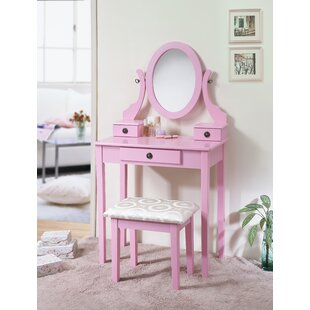 Harriet Bee Duckworth Vanity Set with Mirror