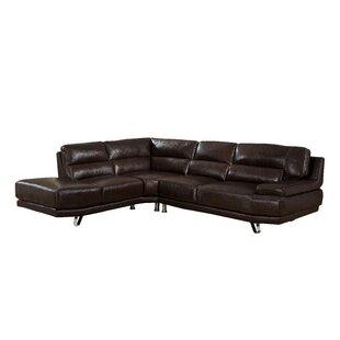 Hawkesbury Leather Sectional Orren Ellis