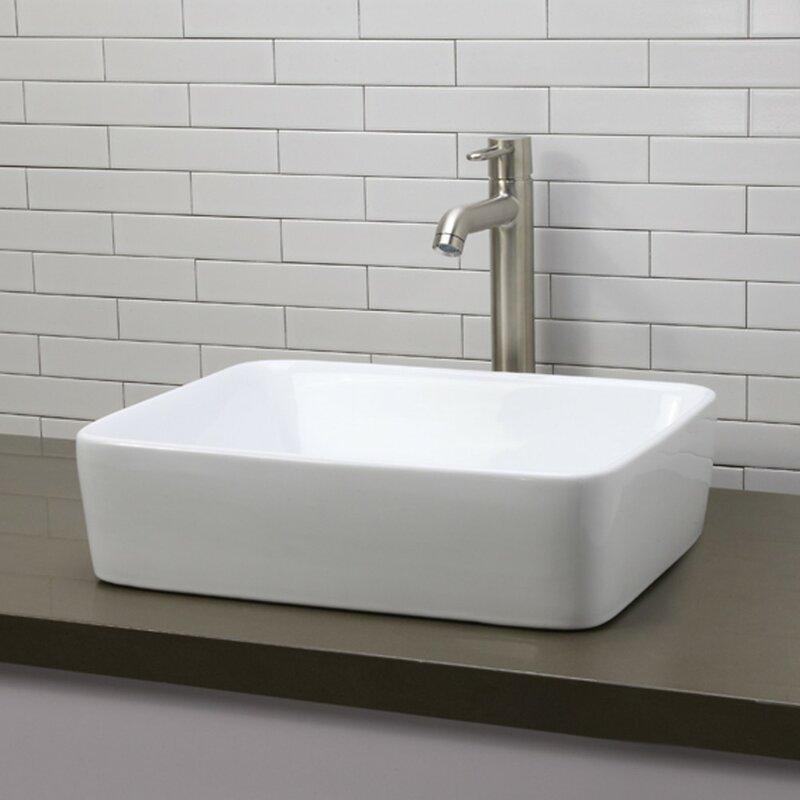 Gemma Clically Redefined Rectangular Vessel Bathroom Sink