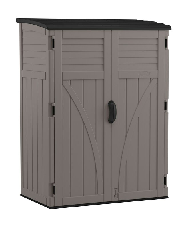 Garden Sheds 9 X 5 suncast 4 ft. 5 in. w x 2 ft. 9 in. d plastic vertical tool shed