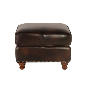 Century Leather Ottoman by Lazzaro Leather