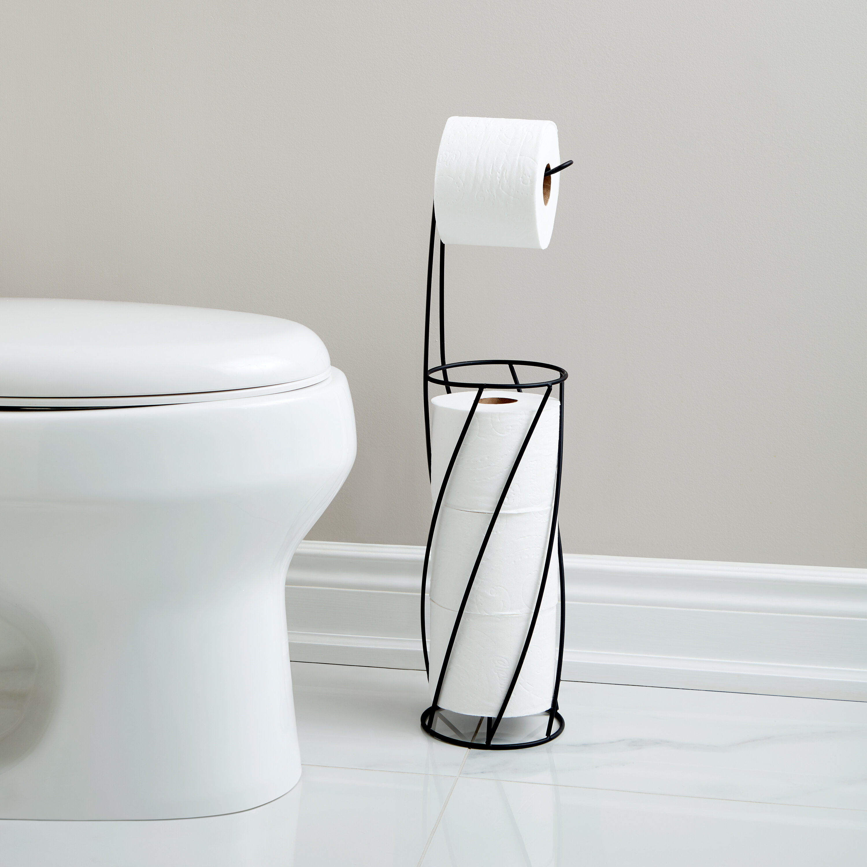 Better Living Products Twist Free Standing Toilet Paper Holder Reviews Wayfair