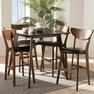 Dalke Mid-Century 5 Piece Pub Table Set Corrigan Studio
