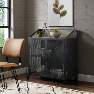Bowles Bar Cabinet with Mesh by Williston Forge