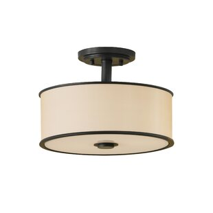 Millerton 2-Light Semi Flush Mount by Darby Home Co