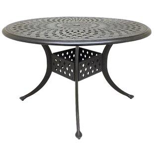 Campion Metal Dining Table by Fleur De Lis Living