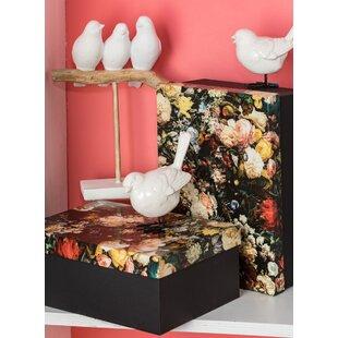 Merveilleux Floral Pattern Paper Pulp2 Piece Box Set