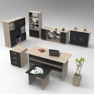 Hatteras 7-Piece Standard Desk Office Suite By Ebern Designs