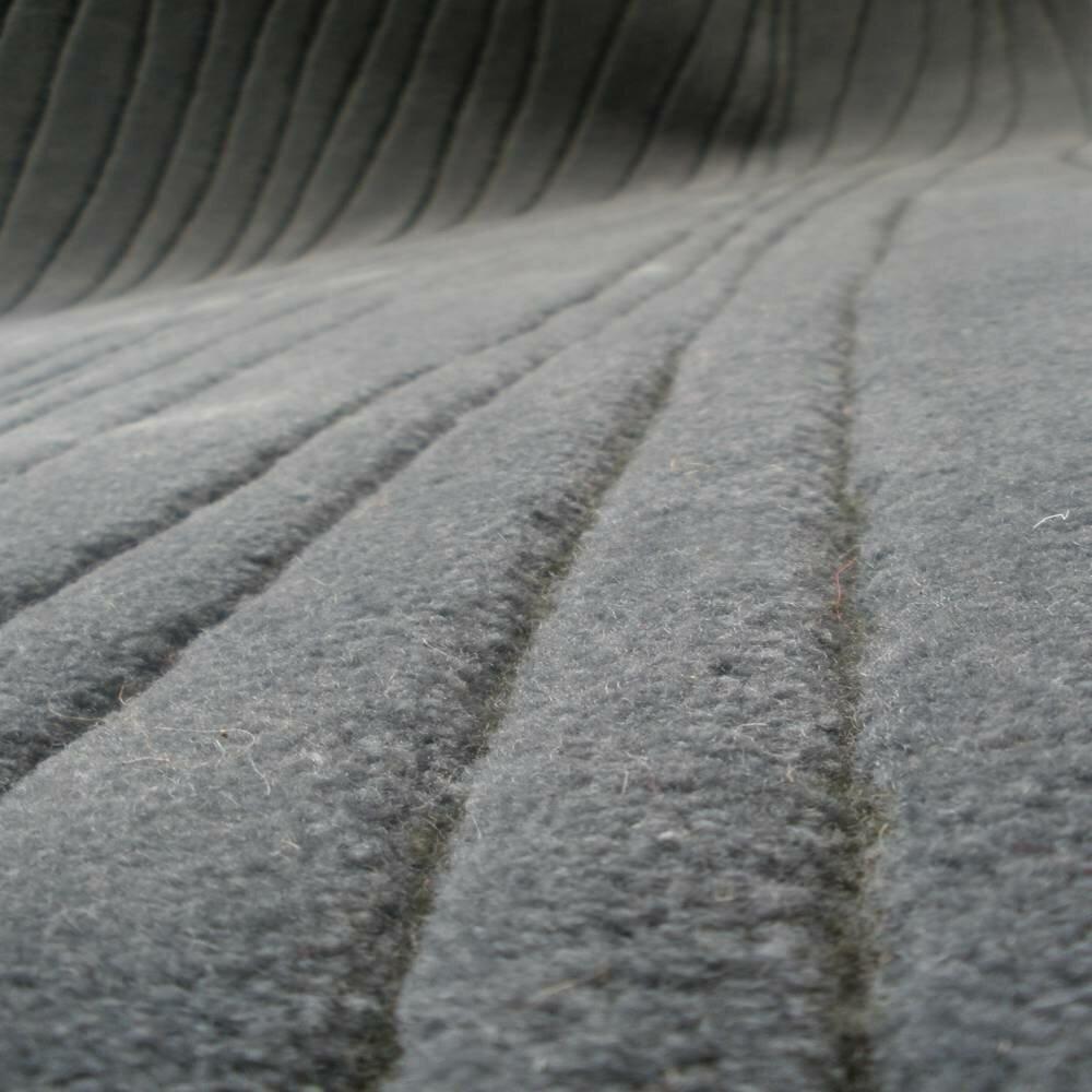 Brayden Studio Askerby Jet Stream Hand Tufted Wool Gray Area Rug Wayfair