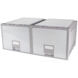 Storex 1-Drawer Lateral Filing Cabinet (Set of 2)