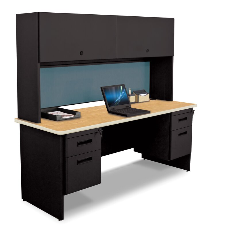 Wonderful Pronto Flipper Door Cabinet And Lock Computer Desk With Hutch