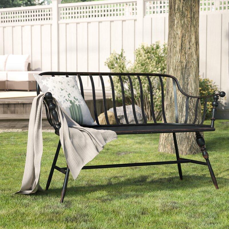 Laurel Foundry Modern Farmhouse Marchant Metal Garden Bench Reviews
