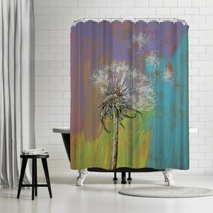 Michael Creese Dandelion Single Shower Curtain