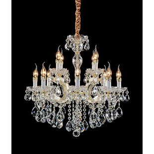 Deonte 12-Light Crystal Chandelier by Ros..