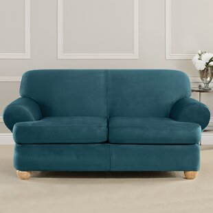 Ultimate Heavyweight Stretch Suede T-Cushion Sofa Slipcover