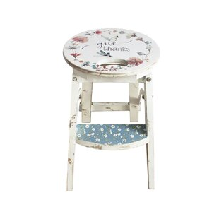 Knollview Country Weekend Design Wooden Stool By Lily Manor