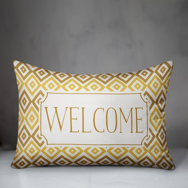 George Oliver Adah Welcome Diamonds Outdoor Rectangular Pillow Cover And Insert Wayfair