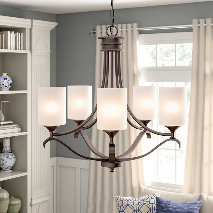 Andover Mills Suki 5-Light Shaded Empire Chandelier (Rubbed Oil Bronze)