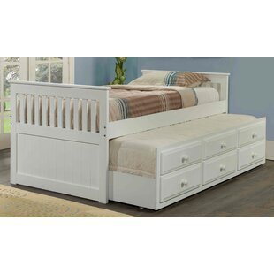 Harriet Bee Hillam Captain Bed with Trundle