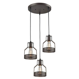 Hoff 3-Light Cluster Pendant by 17 Stories