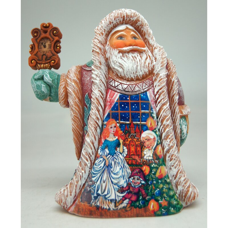 The Holiday Aisle Fifield Clock Regal Santa Nutcracker Derevo Collection Wayfair