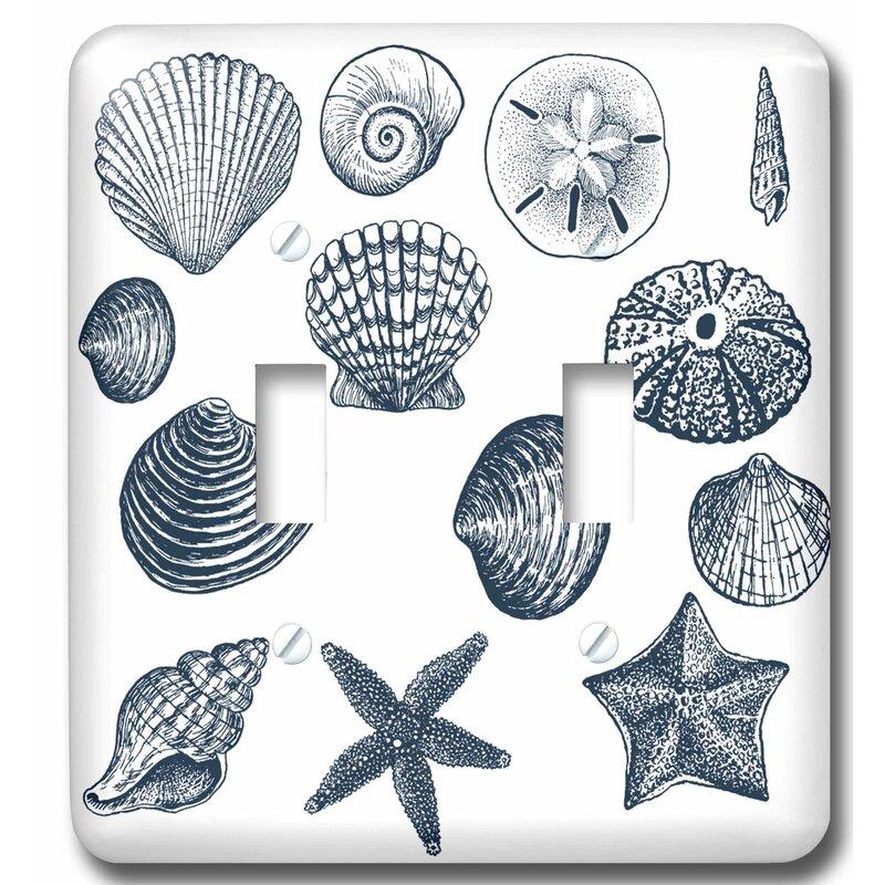 3drose Sea Shells Nautical Beach Theme Ocean Art 2 Gang Toggle Light Switch Wall Plate Wayfair