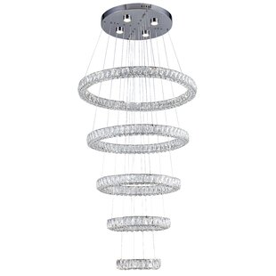 Lofland 9-Light LED Crystal Chandelier by..