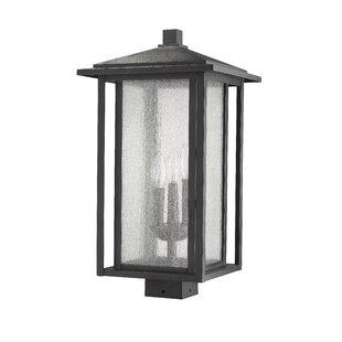 Hungate Outdoor Mount Fixture 1-Light LED Lantern Head by Bloomsbury Market