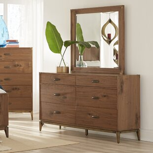 Huntsville 6 Drawer Double Dresser with Mirror