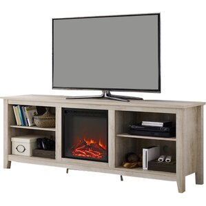 "Sunbury 70"" TV Stand with Optional Fireplace"