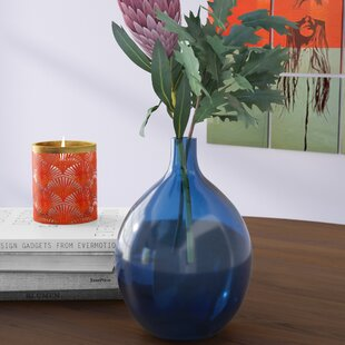 Ilka Round Transparent Glass Table Vase