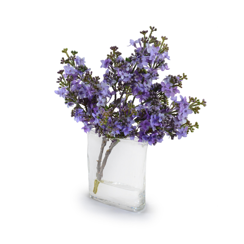 New Growth Designs Lavender Lilac Floral Arrangement In Decorative Vase Wayfair
