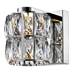Aranda Crystal 1-Light Bath Sconce by House of Hampton