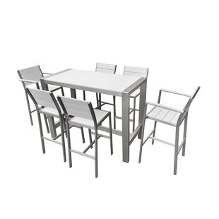 Rosecliff Heights Mabe 7 Piece Bar Height Dining Set
