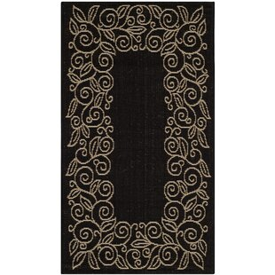 Laurel Black/Beige Indoor/Outdoor Area Rug