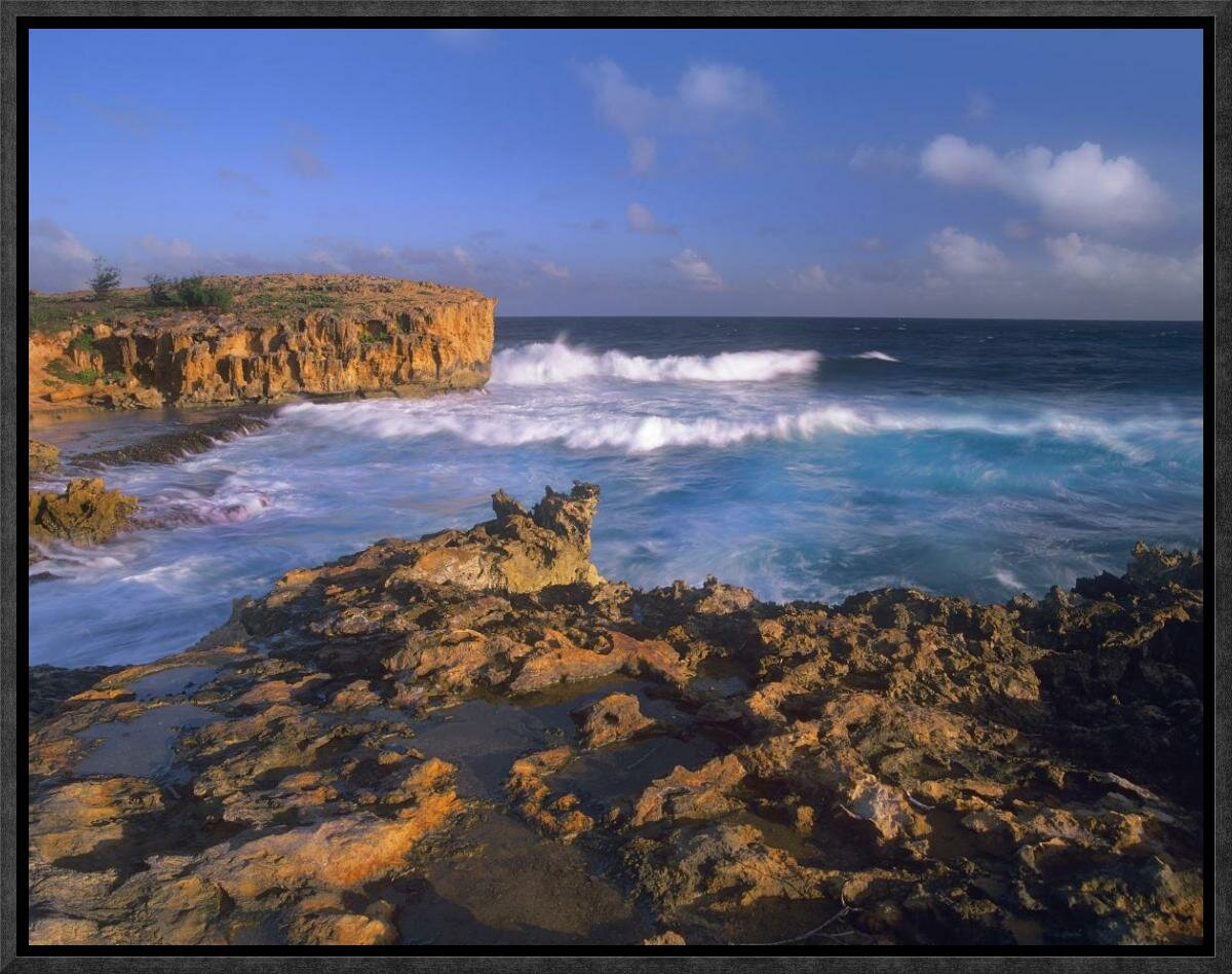Global Gallery Pacific Ocean Waves and Cliffs at Keoneloa ... Pacific Ocean Waves