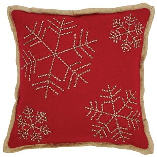 Revelry Snowflake Throw Pillow