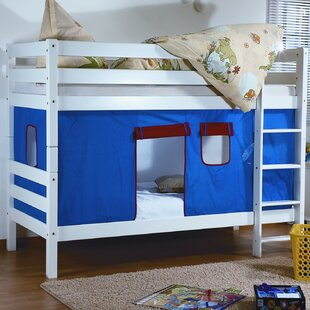 Faircloth Single Bunk Bed With Curtain By Zoomie Kids