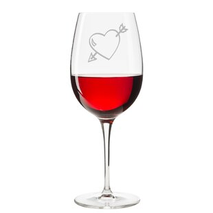 Love Struck 18 oz. Red Wine Glass by Le Prise