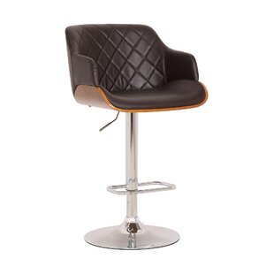 Greggs Adjustable Height Swivel Bar Stool by George Oliver