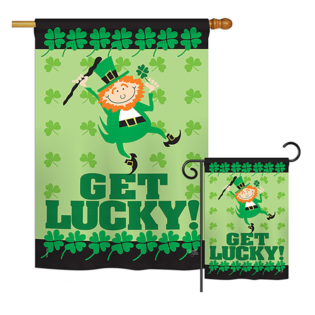 Breeze Decor Get Lucky Spring St Patrick 2 Sided Polyester 40 X 28 In Flag Set Wayfair