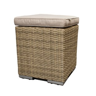 Acushnet Stool With Cushion By Beachcrest Home
