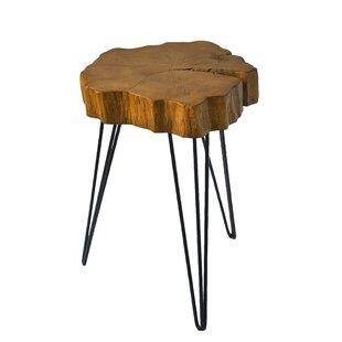 Buzzard Rustic Crosscut Tree End Table