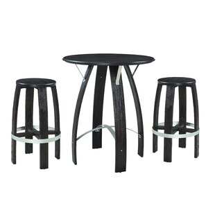 Rasen 3 Piece Pub Table Set by Wrought Studio