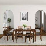 Jerad 7 - Piece Breakfast Nook Dining Set by Red Barrel Studio®