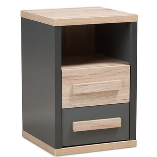 Hetrick 2 Drawer Nightstand by Ebern Designs