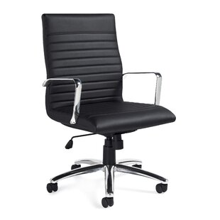 Offices To Go Luxhide Mid-Back Leather De..